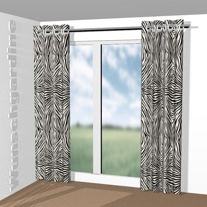moderne gardinenvorhange eindrucksvollem effekt, jab anstoetz zebra 1-4126-099: stoff für vorhänge und gardinen nach maß, Design ideen