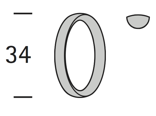 Interstil 20809 Ring 34 * 4,5 mm